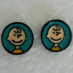 Peanuts Charlie Brown Earrings Blue NWT